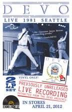DEVO Live 1981 Seattle Promo Flyer