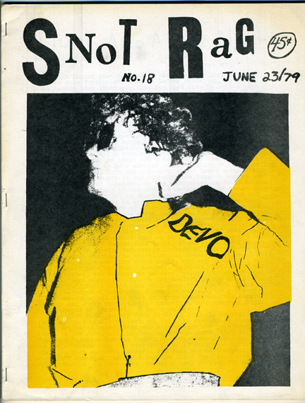 DEVO on cover of SNOT RAG Fanzine 1979::: http://devo-obsesso.com/html/paper-itempages/other/snotrag1979.html